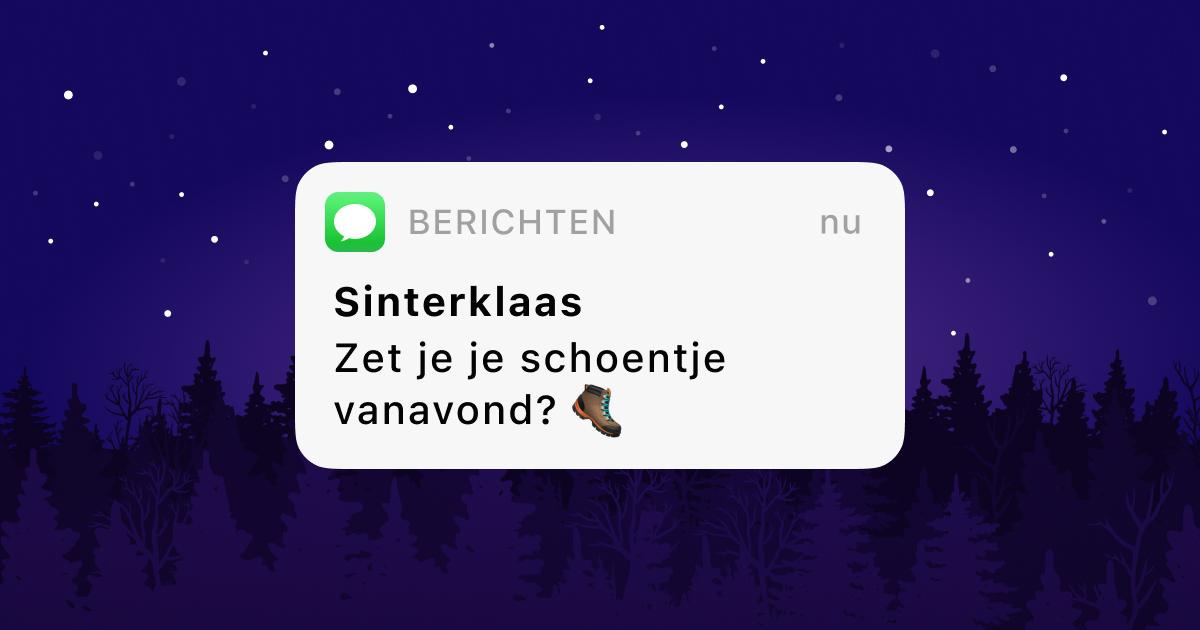 Verras je kind met een sms van Sint of Piet!